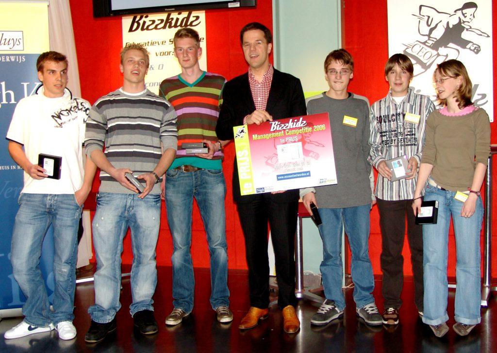 1eprijs Bizzkidz met Mark Rutte